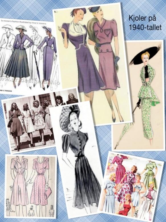 kjoler på 1940-tallet