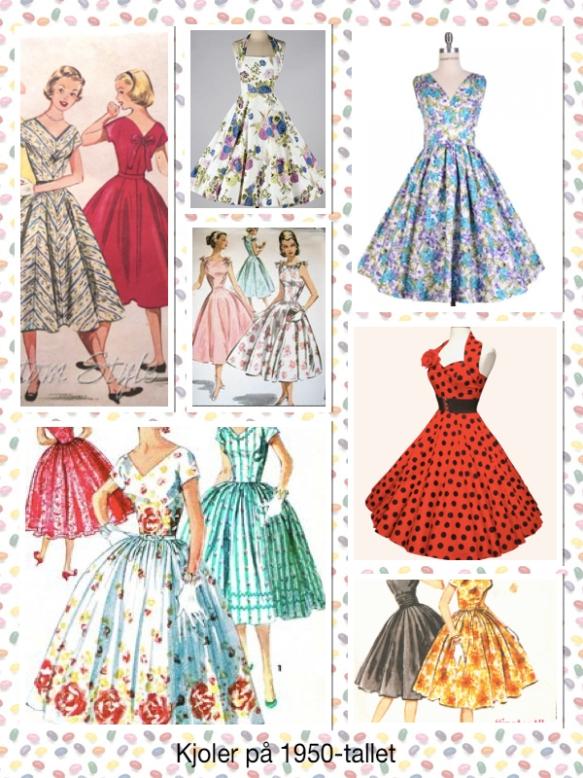 kjoler på 1950-tallet